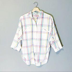Diane Von Furstenberg   Vintage Button Up Plaid M